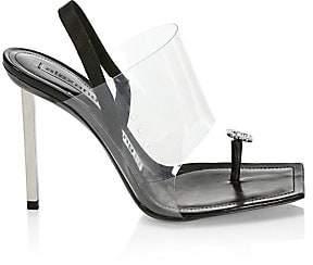 Alexander Wang Women's Kaia Crystal-Embellished & Translucent Slingback Sandals