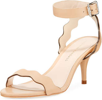 Loeffler Randall Reina Wavy-Strap Leather Sandal