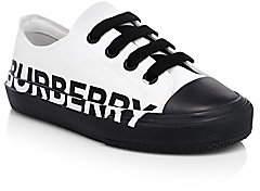 Burberry Kid's Mini Larkhall Logo Sneakers