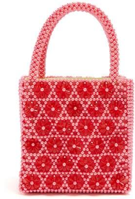 SHRIMPS Venezia faux-pearl embellished bag