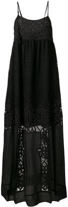Twin-Set sheer detail maxi dress $430.61 thestylecure.com