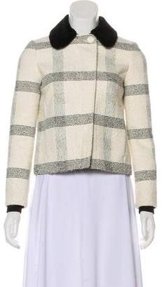 Tory Burch Plaid Tweed Jacket