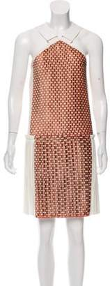 Victoria Beckham Velvet-Accented Pleated Dress w/ Tags Pink Velvet-Accented Pleated Dress w/ Tags