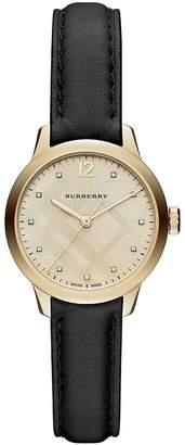 Burberry Women's Classic Round Strap Watch