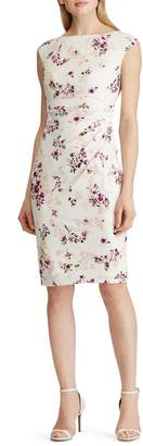 Lauren Ralph Lauren Floral Cap-Sleeve Sheath Dress