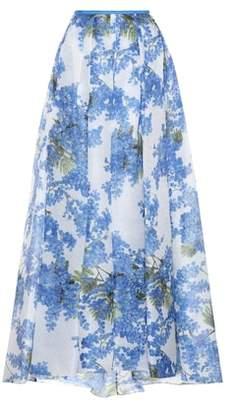 Carolina Herrera Floral-printed silk skirt