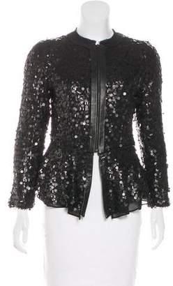 Rag & Bone Silk Embellished Jacket
