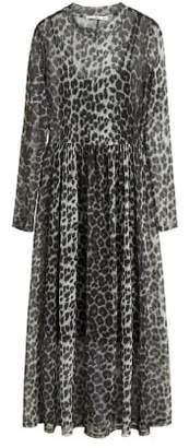 MANGO Printed tulle dress