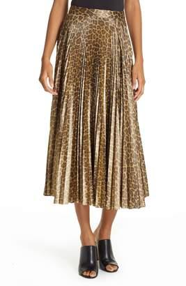 A.L.C. (エーエルシー) - A.L.C. Bobby Leopard Print Pleated Midi Skirt