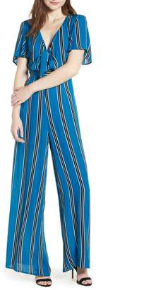 Band of Gypsies Knot Front Stripe Jumpsuit