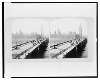 Westminster Historic Photos 1901 Photo Bridge and the House of Parliament, London, England view of the Bridge in the foreground with the House of Parliament in the background. Location: England, London, W
