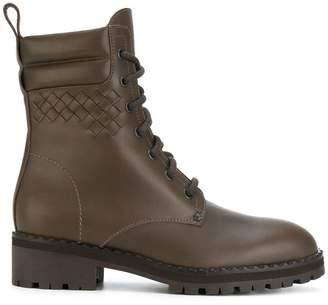 Bottega Veneta steel calf boot