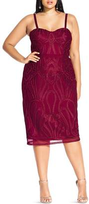 City Chic Plus Antonia Embroidered Dress