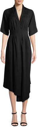 ADAM by Adam Lippes Ruched Asymmetric Dress