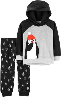 Carter's Toddler Boy Penguin Raglan Hoodie & Printed Jogger Pants Set
