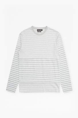 French Connenction Double Face Striped Long Sleeved Top