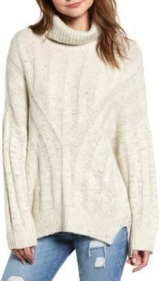 Moon River Oversized Turtleneck Sweater