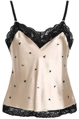 Alexander Wang Embellished Lace-trimmed Satin Camisole