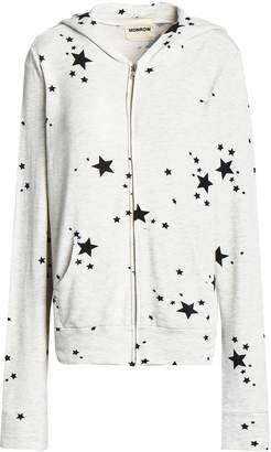 Monrow Printed French-terry Hooded Jacket