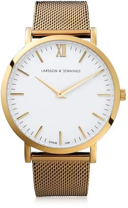 Larsson & Jennings Lugano 40mm Gold & White Watch