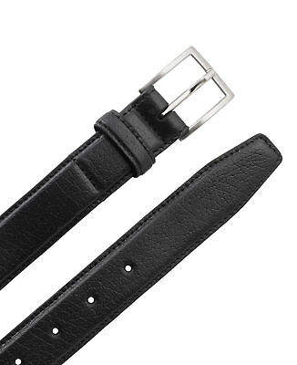 Savile Row Men's Black Leather Belt