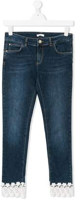 Liu Jo Kids TEEN lace-trimmed jeans