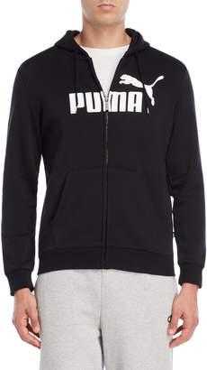 Puma Black Essentials Zip-Up Hoodie