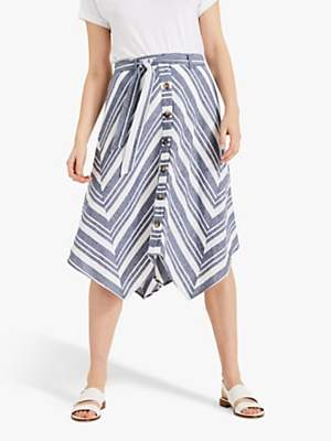 6a3687a61849 at John Lewis and Partners · Phase Eight Maggiore Stripe Skirt, Blue