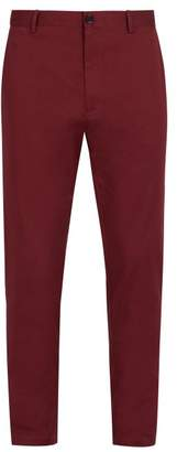 Burberry Classic Slim Fit Chino Trousers - Mens - Burgundy