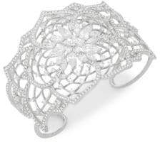 Adriana Orsini Crystal Floral Cuff Bracelet
