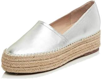 """A-BUYBEA Women's Genuine Leather 1.18"""" Platform Espadrilles Loafers Shoes 7"""