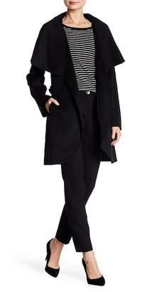 Tahari Marylin Double Face Wool Blend Wrap Coat