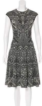 Alexander McQueen Jacquard Flare Dress