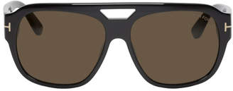 Tom Ford Black Bachardy Aviator Sunglasses