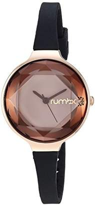 RumbaTime Women's 'Orchard Gem Diamond' Quartz Stainless Steel and Silicone Casual Watch