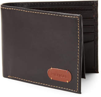 Tommy Hilfiger Brown George Leather Passcase Wallet