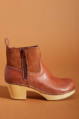 Swedish Hasbeens Zip It Shearling Boots