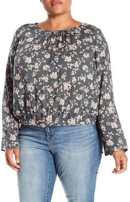 Melrose and Market Long Sleeve Tie Back Blouse (Plus Size)