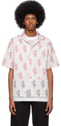 McQ White Hula Girl Bowling Shirt