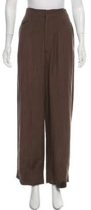 La Garçonne Moderne High-Rise Linen-Blend Pants
