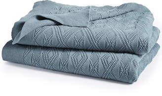 Lauren Ralph Lauren Cotton Double Diamond Knit Throw