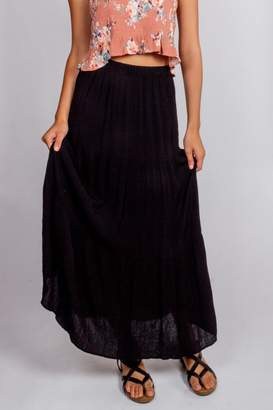 Final Touch Black-Night Maxi Skirt