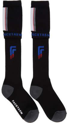 Facetasm Black Athletic Socks