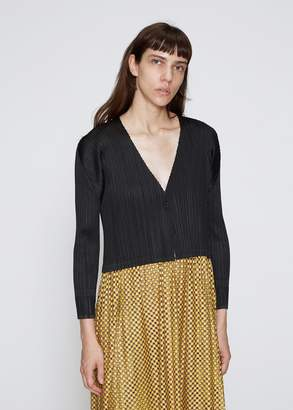 Pleats Please Issey Miyake Cropped Cardigan