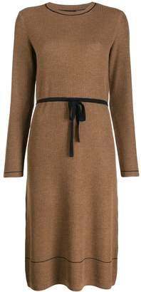 A.P.C. belted knit midi dress