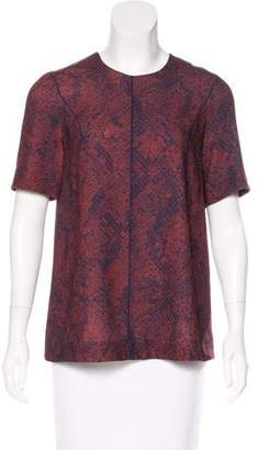 Camilla And Marc Snakeskin-Print Crepe Top