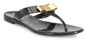 Salvatore Ferragamo Farelia Jelly Thong Sandals $240 thestylecure.com