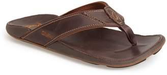 OluKai 'Nui' Leather Flip Flop