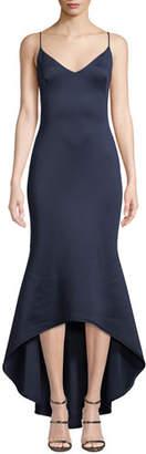 Black Halo Armelle High-Low Neoprene Slip Dress