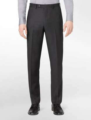 Calvin Klein body slim fit charcoal wool suit pants
